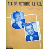 Frank Sinatra, All Or Nothing At All, Piano, Vocal & Guitar (Right-Hand Melody), sheet music, piano notes, chords, song, artist, awards, billboard, mtv, vh1, tour, single, album, release