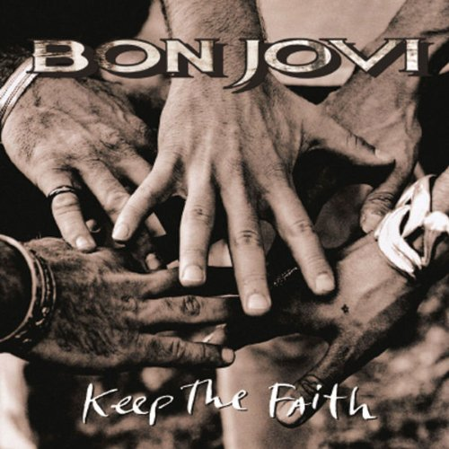 Bon Jovi, Keep The Faith, Piano, Vocal & Guitar, sheet music, piano notes, chords, song, artist, awards, billboard, mtv, vh1, tour, single, album, release