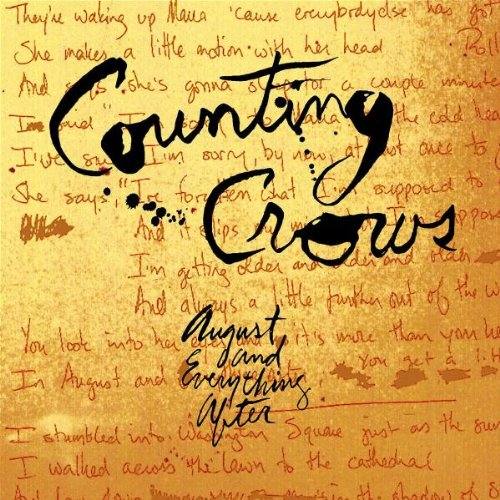 Counting Crows, Round Here, Piano, Vocal & Guitar (Right-Hand Melody), sheet music, piano notes, chords, song, artist, awards, billboard, mtv, vh1, tour, single, album, release