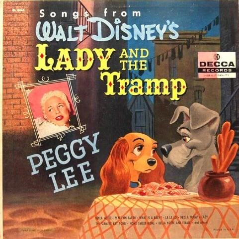 Peggy Lee, He's A Tramp (from Lady and the Tramp), Piano, Vocal & Guitar (Right-Hand Melody), sheet music, piano notes, chords, song, artist, awards, billboard, mtv, vh1, tour, single, album, release