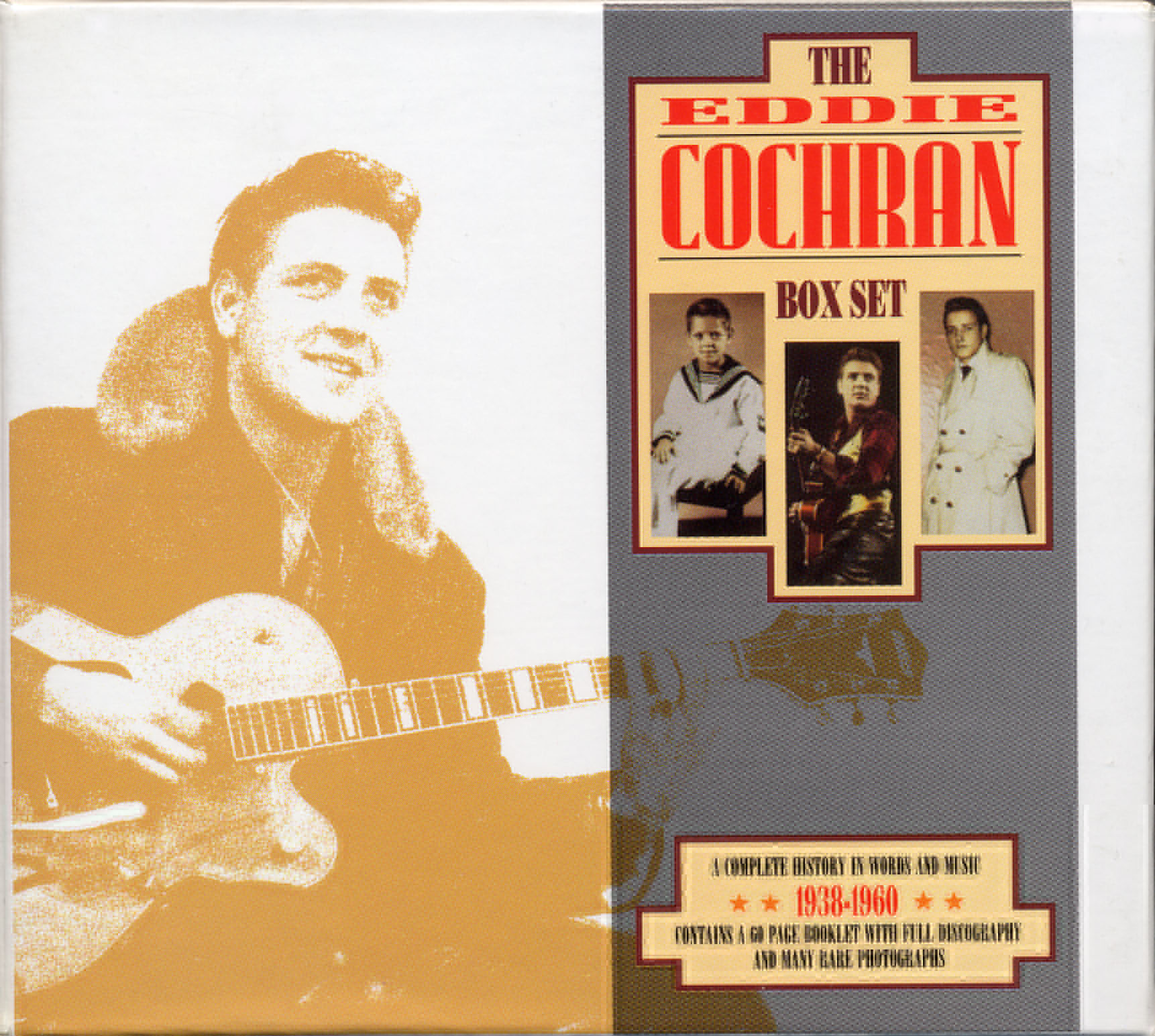 Eddie Cochran, Three Stars, Piano, Vocal & Guitar (Right-Hand Melody), sheet music, piano notes, chords, song, artist, awards, billboard, mtv, vh1, tour, single, album, release