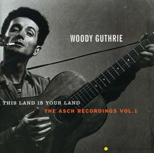 Woody Guthrie, This Land Is Your Land, Piano, Vocal & Guitar (Right-Hand Melody), sheet music, piano notes, chords, song, artist, awards, billboard, mtv, vh1, tour, single, album, release