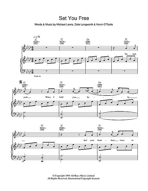 N Trance Set You Free Sheet Music Notes Chords Download Pop Notes