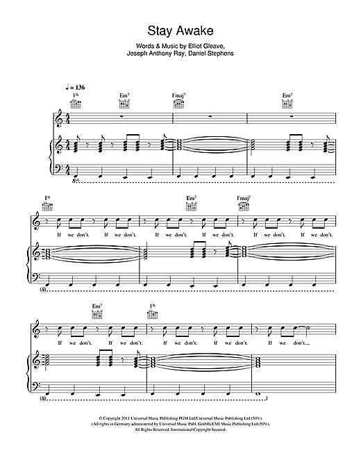 Example 'Stay Awake' Sheet Music Notes, Chords | Download Printable Piano,  Vocal & Guitar (Right-Hand Melody) - SKU: 111935