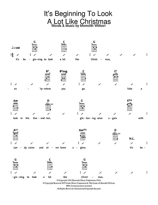 Look A Lot Like Christmas Sheet Music