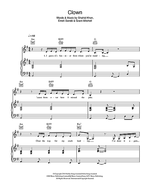 Music Notes For Piano