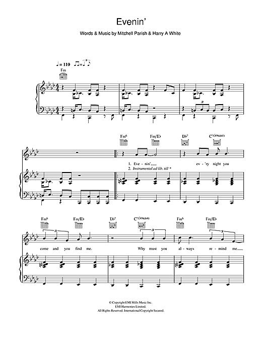 Hugh Laurie Evenin Sheet Music Download Pdf Score 116410