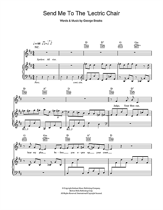 Hugh Laurie Send Me To The Lectric Chair Sheet Music Download Pdf Score 116460
