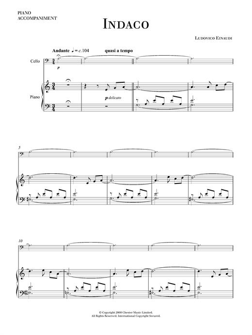 Indaco sheet music