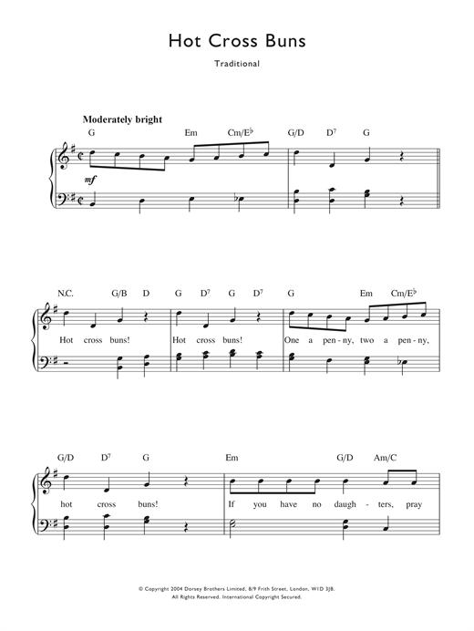Traditional Nursery Rhyme Hot Cross
