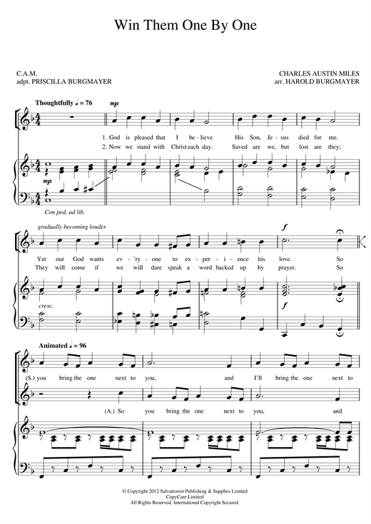 Win Them One By One sheet music