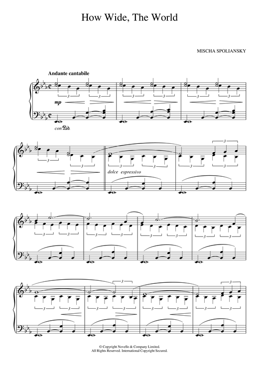 How Wide, The World sheet music