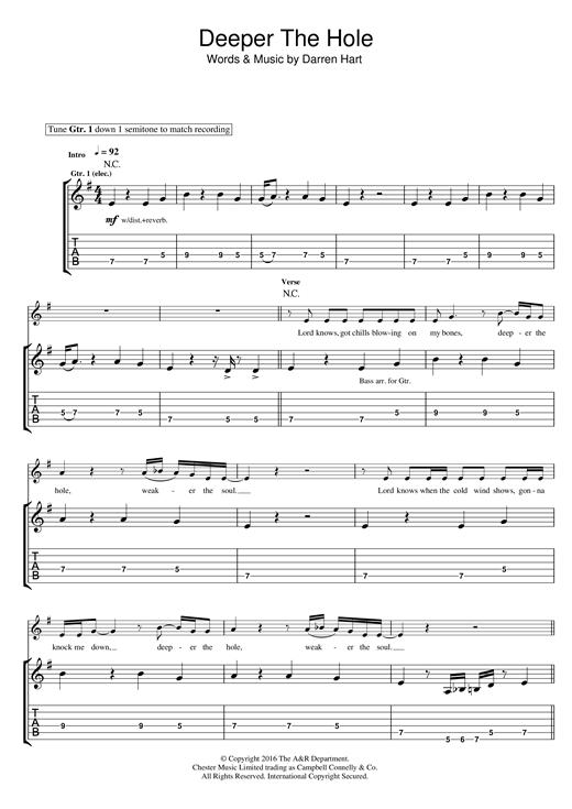 Deeper The Hole sheet music