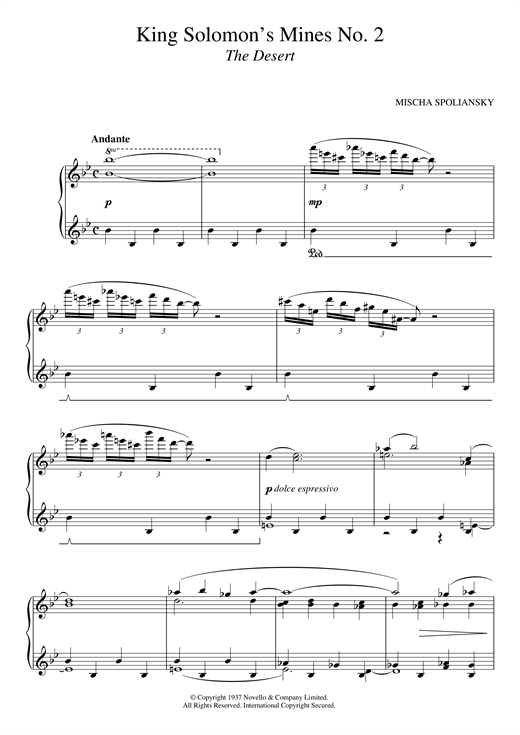 King Solomon's Mines 2: The Desert sheet music