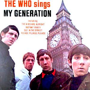 The Who, My Generation, Piano, Vocal & Guitar (Right-Hand Melody)
