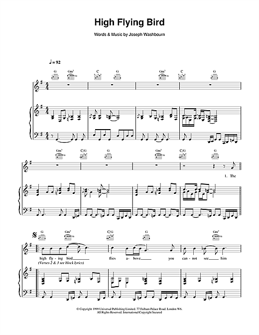 High Flying Bird sheet music
