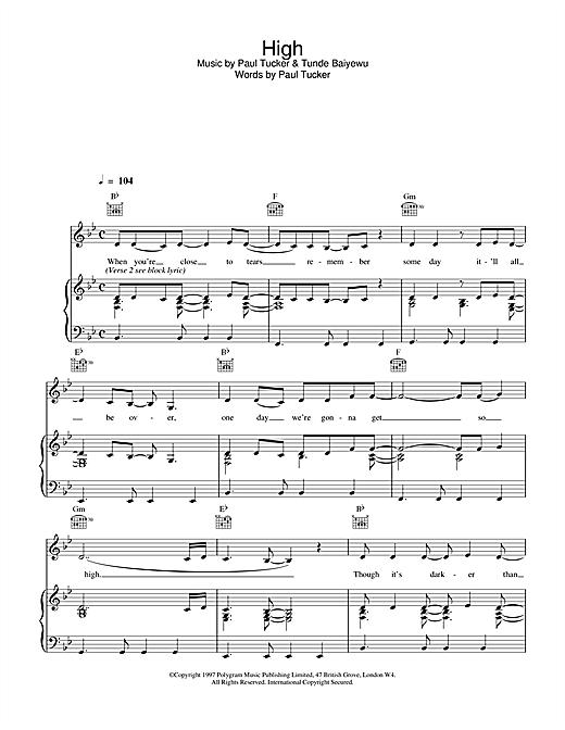 High sheet music