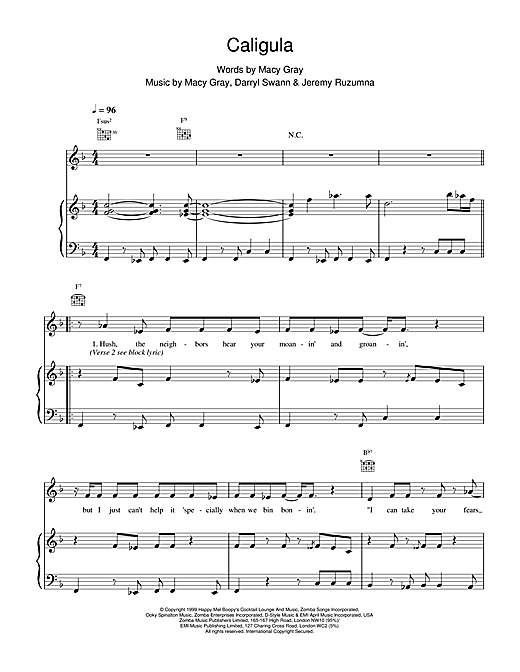 Caligula sheet music