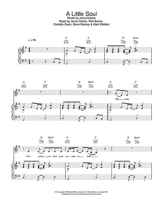 A Little Soul sheet music