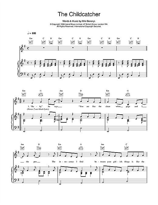 The Childcatcher sheet music