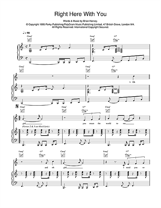 Right Here With You sheet music