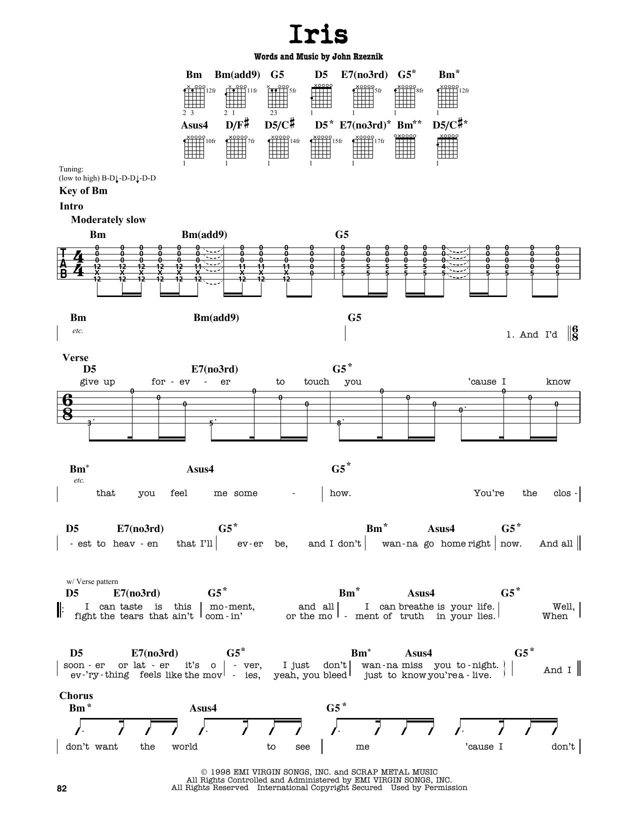 Vocal Score Iris