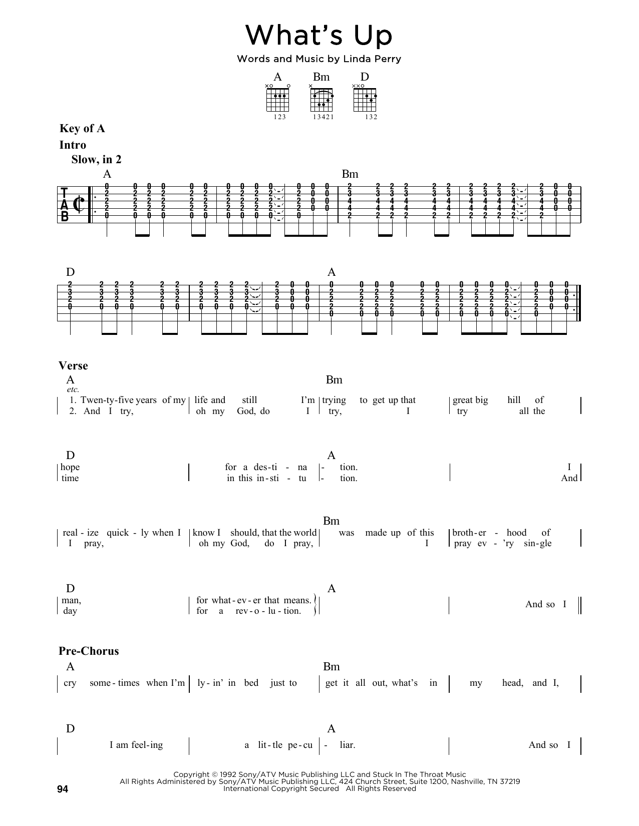 whats up chords