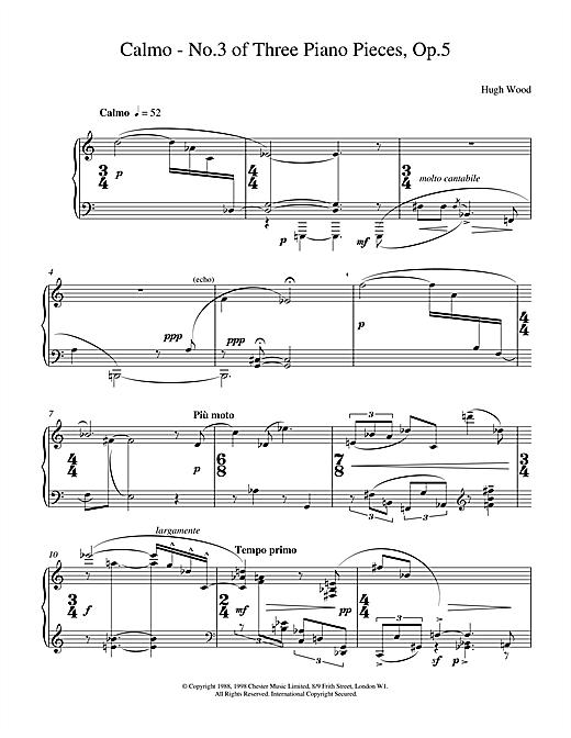 Calmo Op5 sheet music