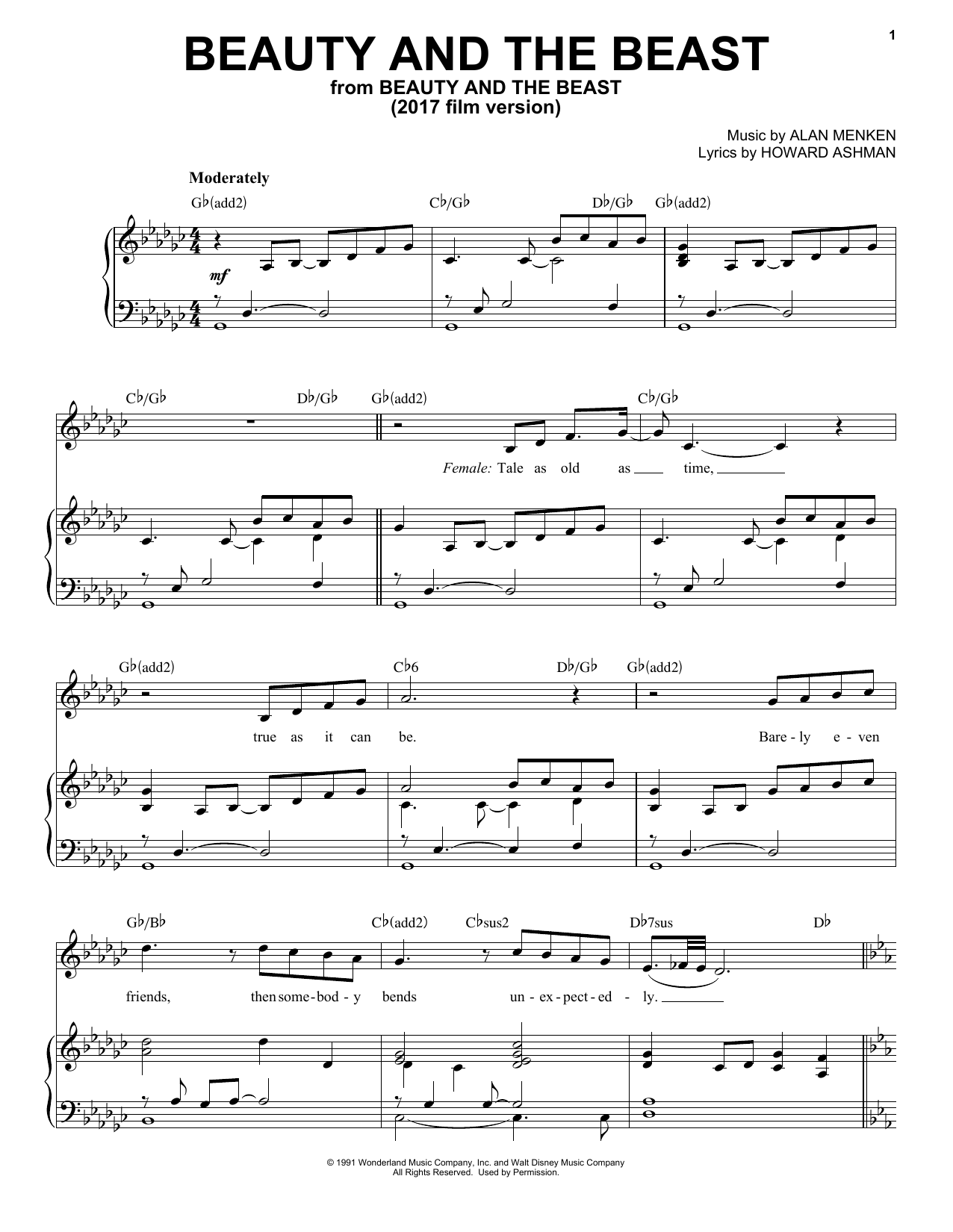 graphic about Beauty and the Beast Piano Sheet Music Free Printable referred to as Ariana Grande John Legend Magnificence And The Beast Sheet Audio Notes, Chords Down load Printable Piano Vocal - SKU: 181298