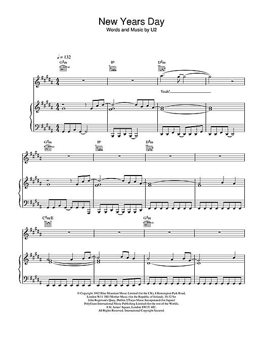New Years Day sheet music