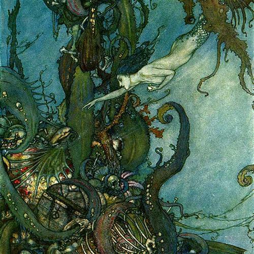 18th Century Sea Chantey, The Mermaid, Piano, Vocal & Guitar (Right-Hand Melody)