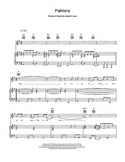 Palmera sheet music