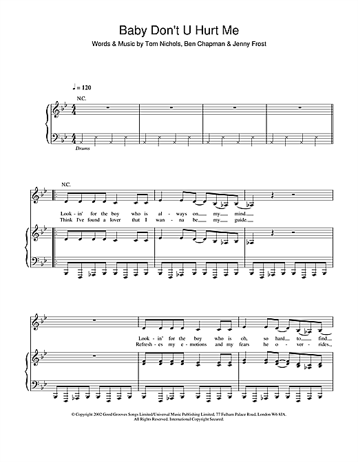 Baby Don't U Hurt Me sheet music