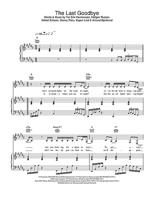 The Last Goodbye sheet music