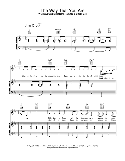 The Way That You Are sheet music