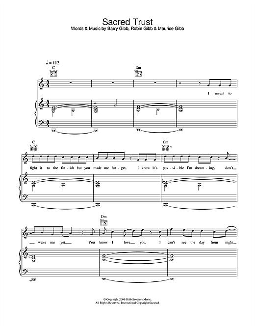 Sacred Trust sheet music