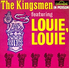 The Kingsmen, Louie, Louie, Piano, Vocal & Guitar (Right-Hand Melody)