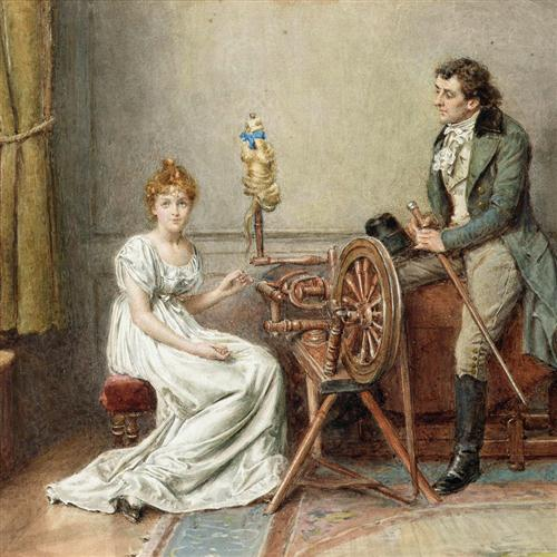 John Francis Waller, The Spinning Wheel Song, Piano, Vocal & Guitar (Right-Hand Melody)