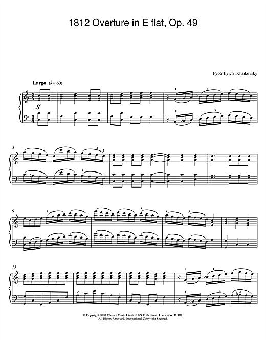 1812 Overture in E flat, Op. 49 sheet music