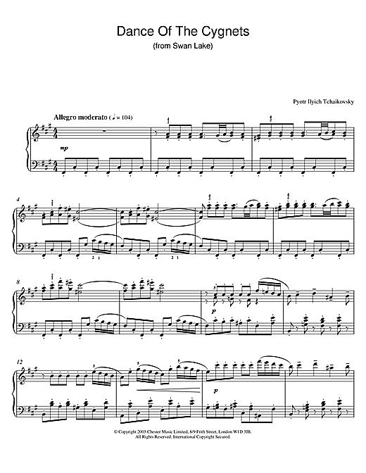 Swan Lake, Op. 20 (Dance Of The Cygnets) sheet music
