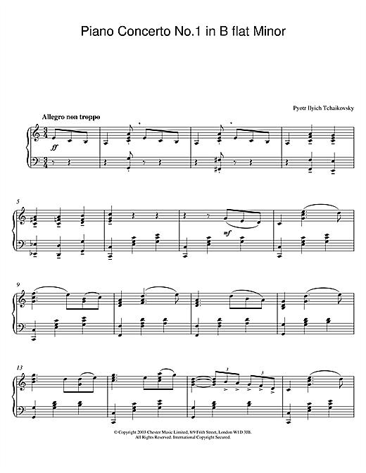 Piano Concerto No. 1 In Bb Minor sheet music