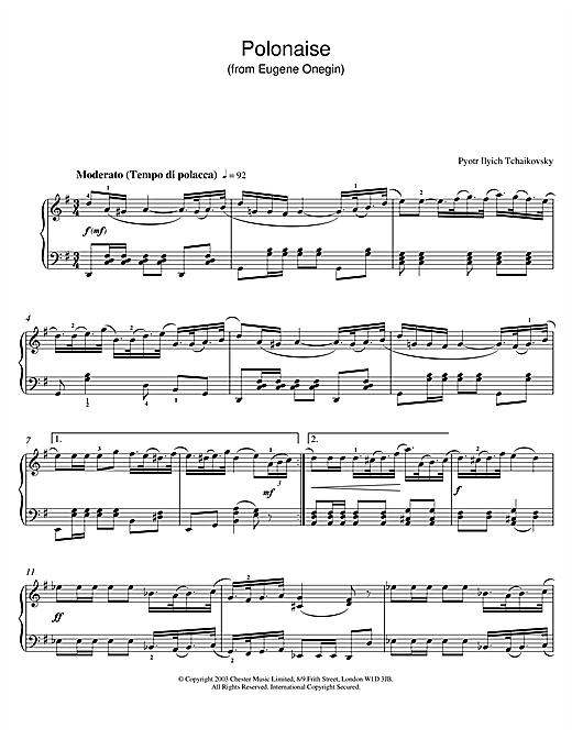 Polonaise (from Eugene Onegin) sheet music