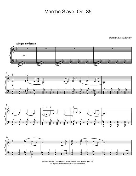 Marche Slave, Op. 35 sheet music