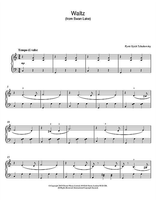 Swan Lake, Op. 20 (Waltz) sheet music