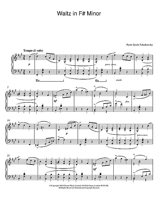 Waltz in F# Minor sheet music