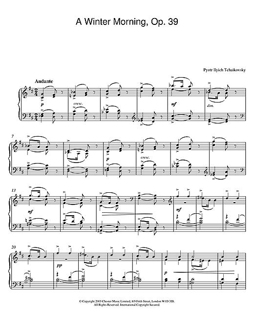 A Winter Morning, Op. 39 sheet music