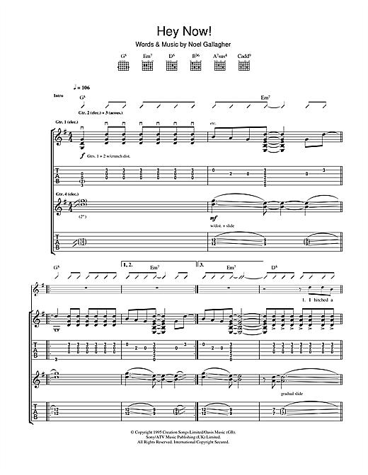 Hey Now sheet music