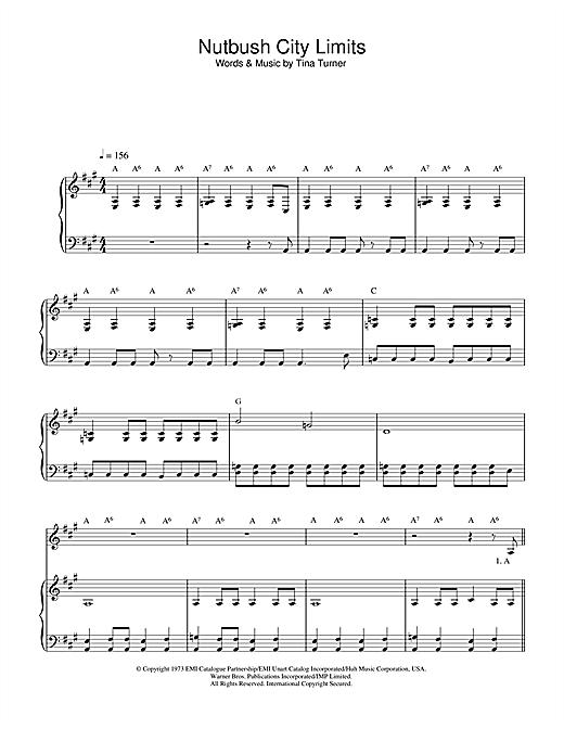 Nutbush City Limits sheet music