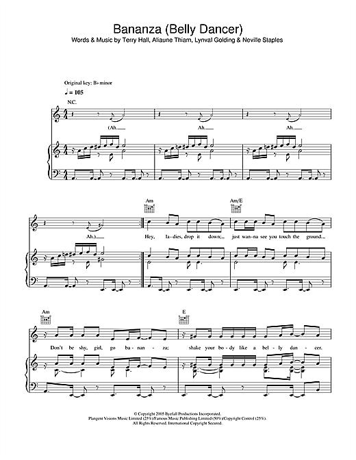 Bananza (Belly Dancer) sheet music