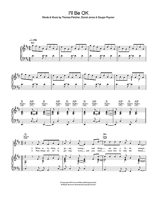 I'll Be OK sheet music